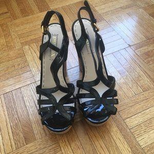 Prada sandals heel cork platform 9 chunky heel